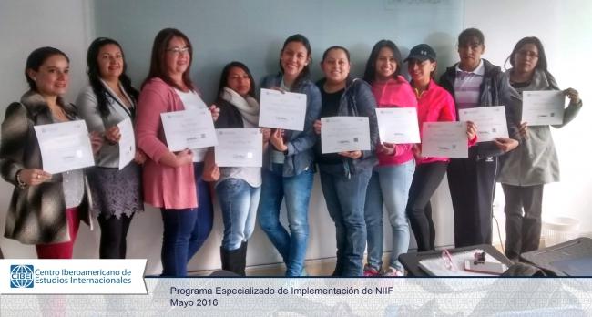 Programa Especialziado de implementación de NIIF