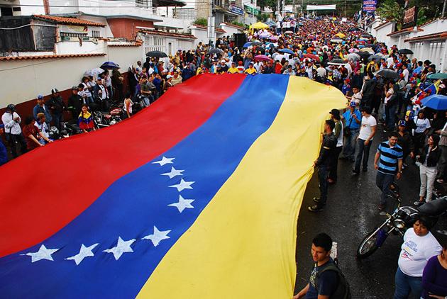 Enfrentamiento en Venezuela
